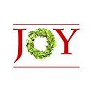 JOY Christmas Boxwood Wreath by Ann Drake