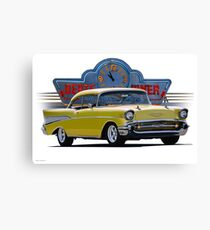 1957 Chevrolet Bel Air Two-Door Hardtop  Canvas Print