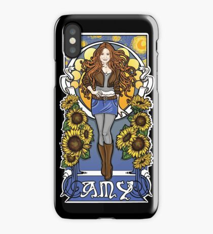The Girl Who Waited (Amy under a Van Gogh sky) iPhone Case
