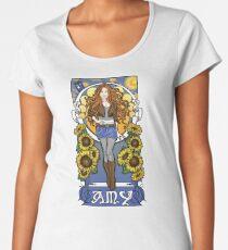 The Girl Who Waited (Amy under a Van Gogh sky) Women's Premium T-Shirt
