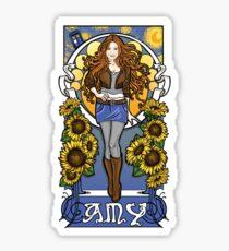 The Girl Who Waited (Amy under a Van Gogh sky) Sticker