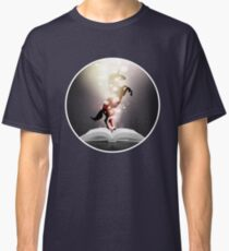 The Reading Unicorn in Shining Pixie Dust  Classic T-Shirt
