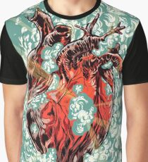 Heart Explosion Graphic T-Shirt