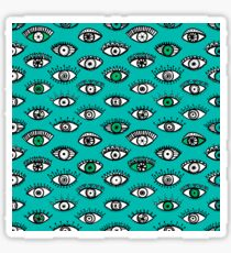 psychedelic indie eyes Sticker