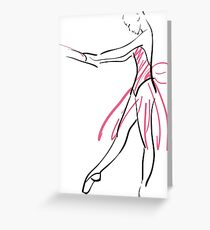 sketch of girl's ballerina  Greeting Card