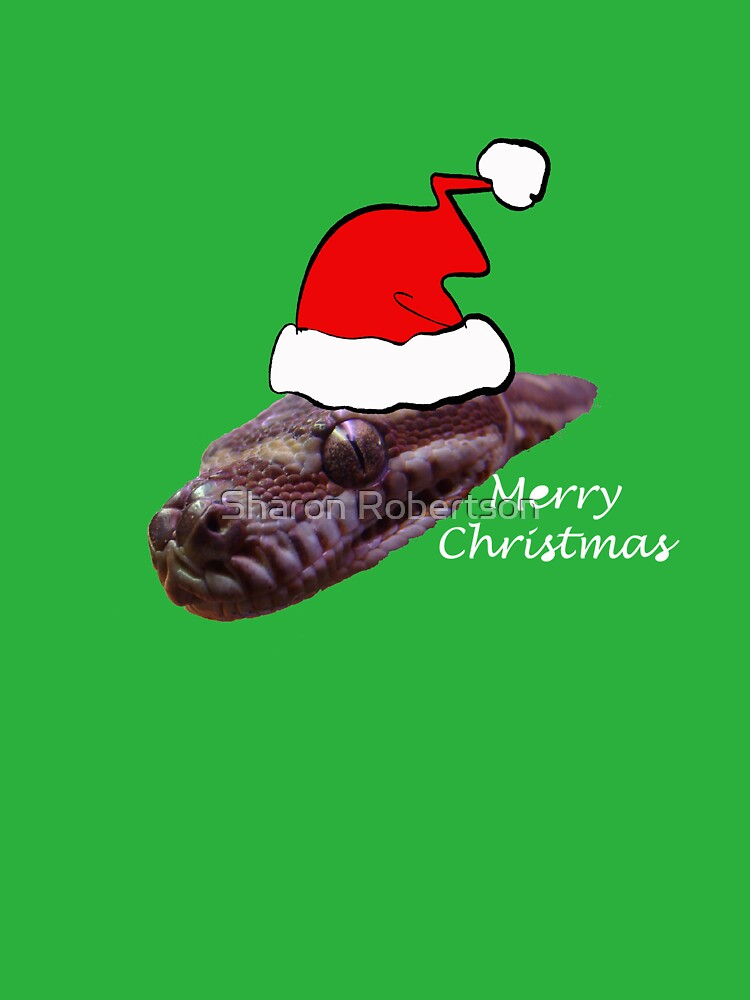 Snake wishing you a Merry Christmas by Sharon Robertson