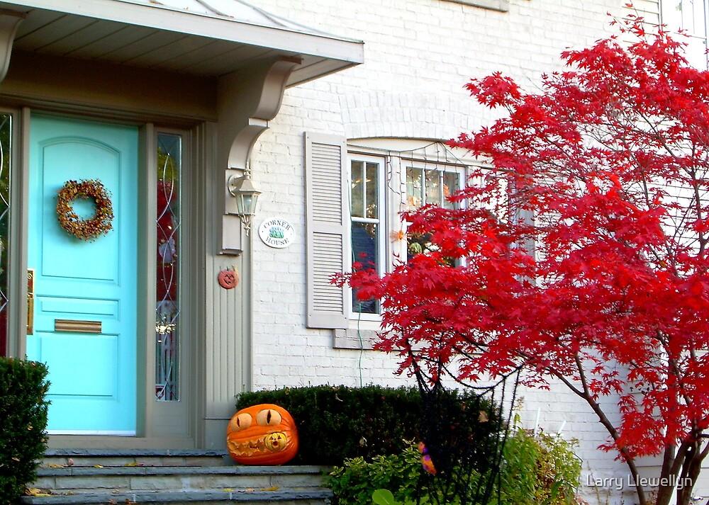Halloween in Suburbia by Larry Llewellyn