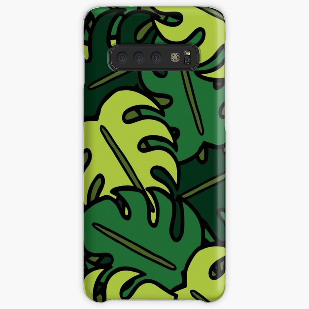 Monstera Leaf Pattern Samsung Galaxy Snap Case