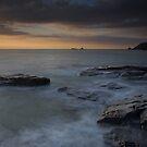 Dinas  head sunset Cornwall by eddiej