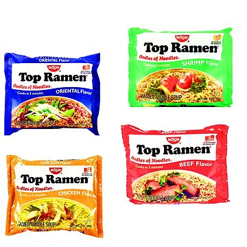 Top ramen 4 stickers by eddycasanta