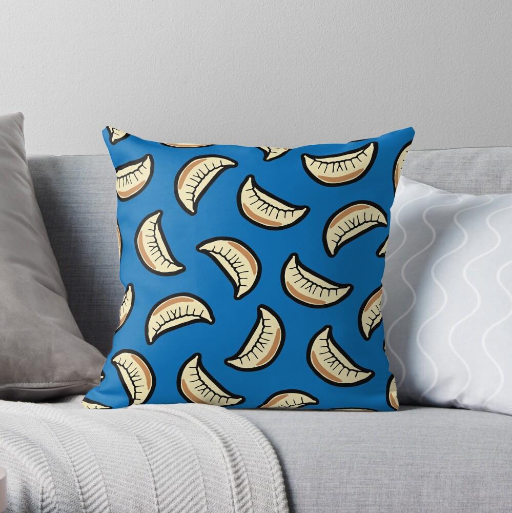 Gyoza Dumpling Pattern Throw Pillow