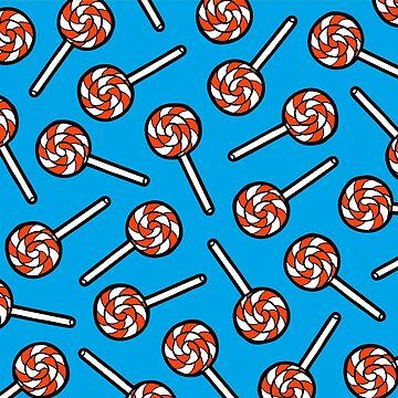 Red, white and blue lollipop pattern by evannave