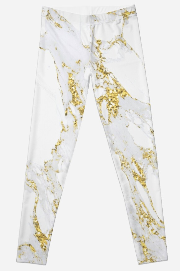White and Gold Leggings