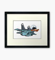 Cartoon Jetbird Framed Print