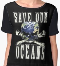 SAVE OUR OCEANS Women's Chiffon Top