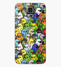 Zu viele Vögel! Vogelkader 1 Hülle & Klebefolie für Samsung Galaxy