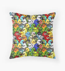 Too Many Birds! Bird Squad 1 Throw Pillow