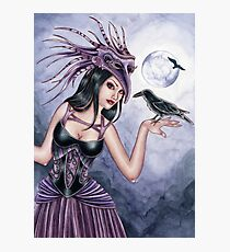 Rayne - Raven Witch Photographic Print