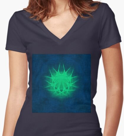 Insubstantial Star Fitted V-Neck T-Shirt
