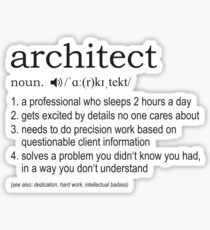 Architect - Definition Sticker