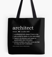 Architect - Definition Tote Bag