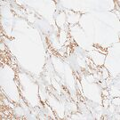 Blush Pink Rose Gold White Gray Carrara Marble Stone Abstract Delicate Girly  by florenceKdesign