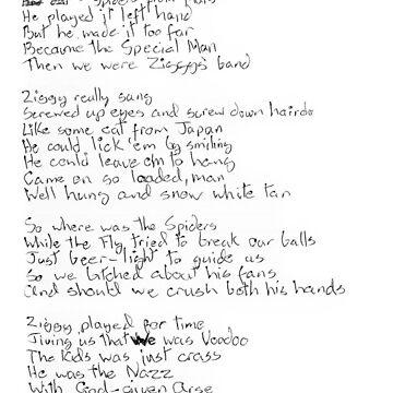 Ziggy Stardust lyrics (black) by lockwie