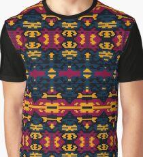Pixel Design Print. Fashion Tribal Pattern. Graphic T-Shirt