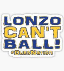 Lonzo Can't Ball Oakland Edition Sticker