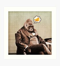 Gorilla My Dreams Art Print