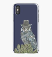 Christmas Owl Tree Topper iPhone Case/Skin