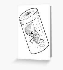 Monster in a jar B&W Greeting Card