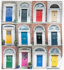 Colourful Dublin doors Poster