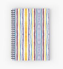 Striped Watercolor Pattern Spiral Notebook