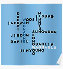 Wanna One wordgame Poster
