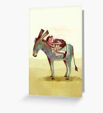 Boy and Donkey Greeting Card