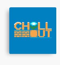 Chill Out (pillow) Canvas Print