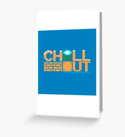 Chill Out (pillow) Greeting Card