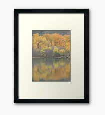 Fall Pastel Colours Framed Print
