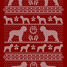 Ugly Christmas sweater dog edition - Lagotto Romagnolo red by Camilla Mikaela Häggblom