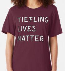 Tiefling Lives Matter Meme DND 5e Pathfinder RPG Role Playing Tabletop RNG Slim Fit T-Shirt