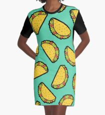 It's Taco Time! Graphic T-Shirt Dress
