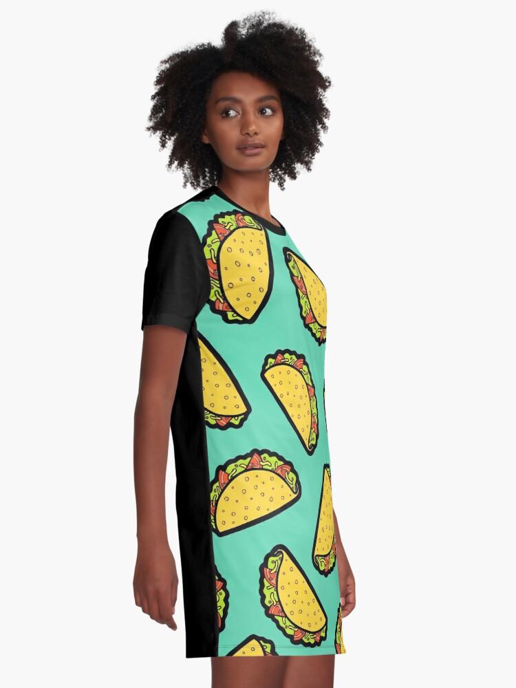 Alternative Ansicht von Es ist Taco Zeit! T-Shirt Kleid