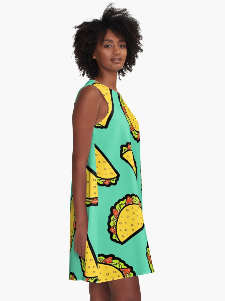 Alternate view of It's Taco Time! A-Line Dress