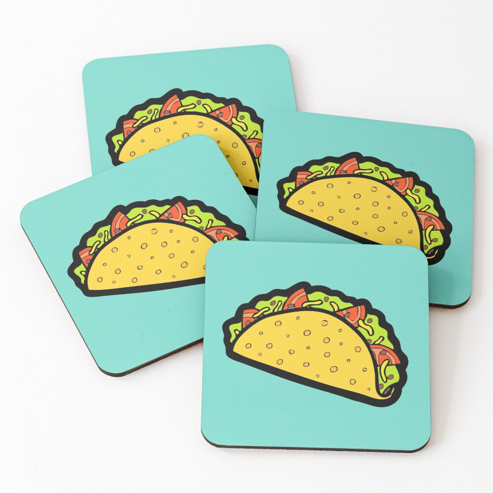 It's Taco Time! Coasters (Set of 4)