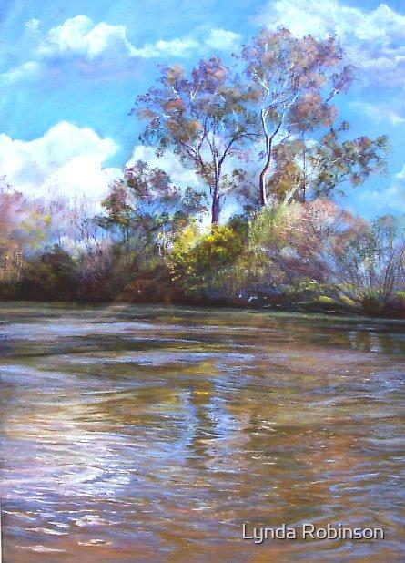 'The Goulburn at Ekbergs' by Lynda Robinson