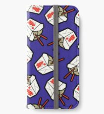 Take-Out Noodles Box Pattern iPhone Wallet/Case/Skin