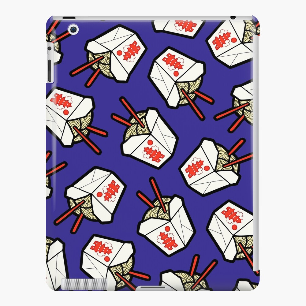 Take-Out Noodles Box Pattern iPad Snap Case