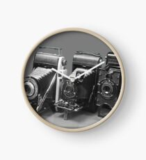 Vintage cameras photography design Clock