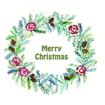 Christmas 2017, Greeting Cards - Wreath - Merry Christmas by MADEBYCATHERINE